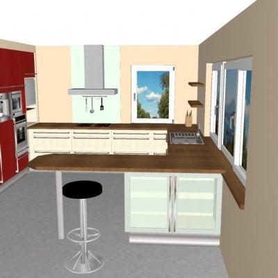 Küche mit Gerätemodul