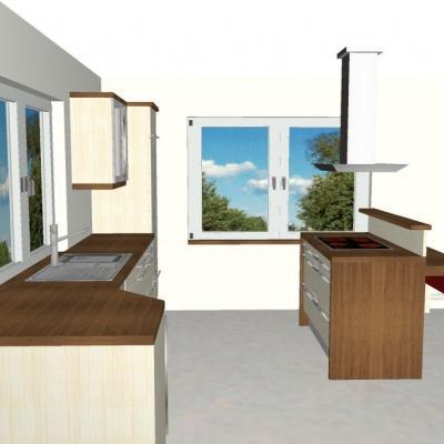 Küchen mit sitzgelegenheit  Schreinerei Preisinger - individuelle 3-D Planungen