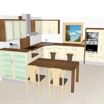 Küche mit Eßtischkombination