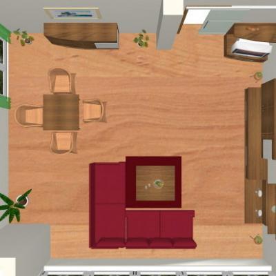 Wohnzimmer - Vogelperspektive